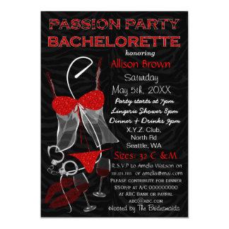 Leidenschafts-Party Bachelorette, Wäsche-Dusche Karte