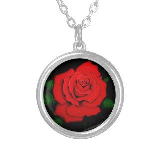 Leidenschafts-Rose Versilberte Kette
