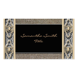 Leinengewebe verschönerte elegante Visitenkarte