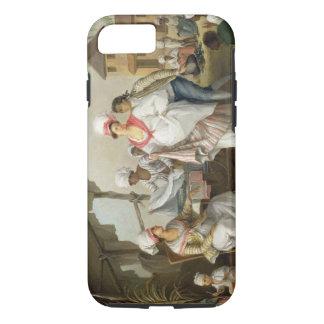 Leinenmarkt, Roseau, Dominica, c.1780 (Öl kann an iPhone 8/7 Hülle
