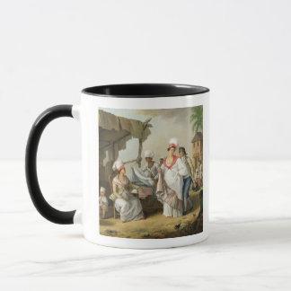 Leinenmarkt, Roseau, Dominica, c.1780 (Öl kann an Tasse
