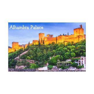 Leinwand-Alhambra-Palast Leinwanddruck