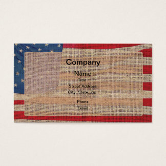 Leinwand-amerikanische Flagge Visitenkarte