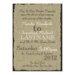 Leinwand-Blick-rustikale Hochzeit 14 X 19,5 Cm Einladungskarte