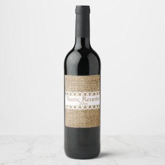 Leinwand-Blick und Band-Entwurfs-Wein-Aufkleber Weinetikett