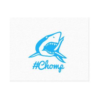 Leinwand #chomp Haifisch