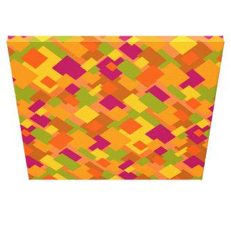Leinwand-diagonaler Entwurf des Herbst-Flecken-2 Leinwanddruck