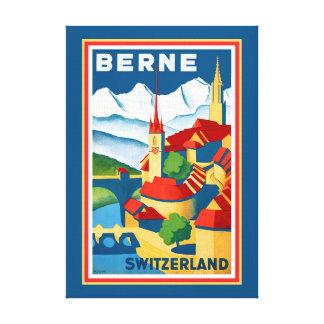 Leinwand-Druck Berns, die Schweiz Leinwanddruck