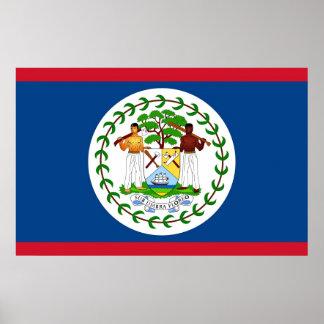 Leinwand-Druck mit Flagge von Belize Poster