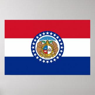 Leinwand-Druck mit Flagge von Missouri, USA Poster