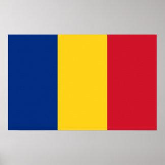 Leinwand-Druck mit Flagge von Rumänien Poster