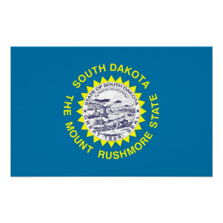 Leinwand-Druck mit Flagge von South Dakota, USA Poster