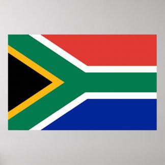 Leinwand-Druck mit Flagge von Südafrika Poster