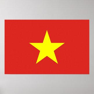 Leinwand-Druck mit Flagge von Vietnam Poster