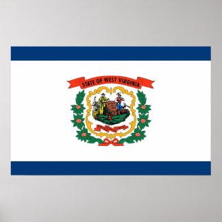 Leinwand-Druck mit Flagge von West Virginia, USA Poster