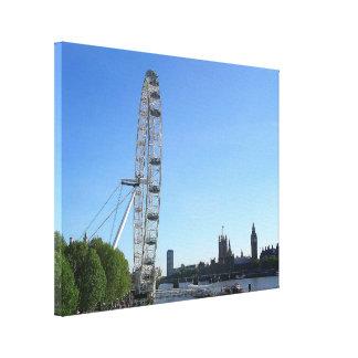 Leinwand-Druck mit London-Augen-Riesenrad Leinwanddruck