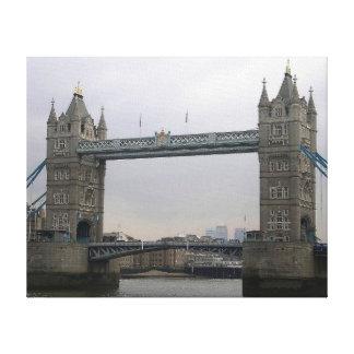 Leinwand-Druck mit Turm-Brücke über der Themse Leinwanddruck