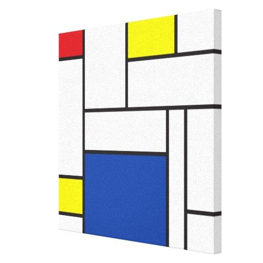 Leinwand-Druck Mondrian Minimalist De Stijl Art Leinwand Drucke