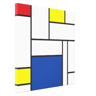 Leinwand-Druck Mondrian Minimalist De Stijl Art Leinwanddruck