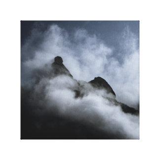 Leinwand-Druck - Schweizer Alpen Leinwanddruck