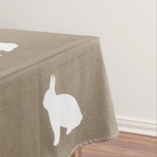 Leinwand-Häschen-Tischdecke Tischdecke