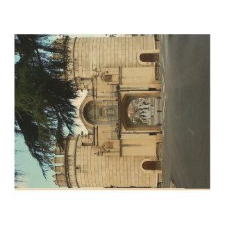 Leinwand Holz Badajoz Tür Palma vintage Holzleinwand