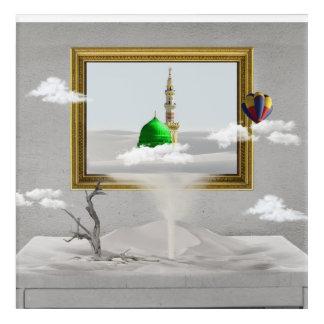 Leinwand-Kunstentwurf Madina Mekkas islamischer Acryldruck