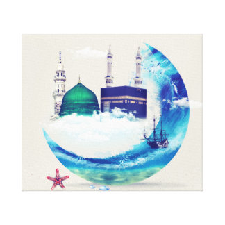 Leinwand-Kunstentwurf Madina Mekkas islamischer Leinwanddruck