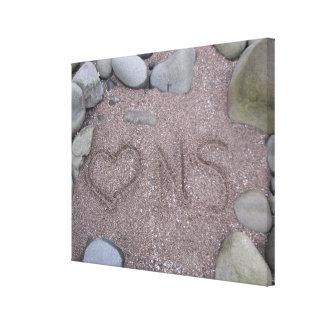 Leinwand-Liebe-Neuschottland-Herz gezeichnet im Leinwanddruck