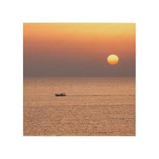 Leinwand mit Sonnenuntergang im südlichen Holzwanddeko