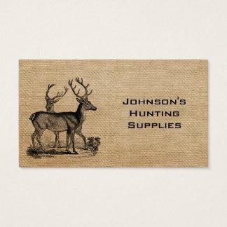 Leinwand-Rotwild-Jagd-Versorgungs-Speicher Visitenkarten