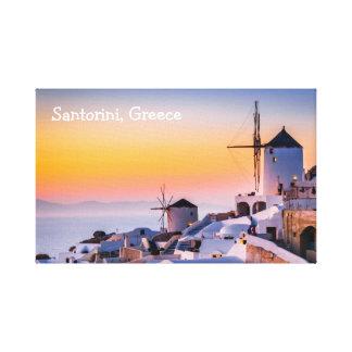 Leinwand Santorini Griechenland
