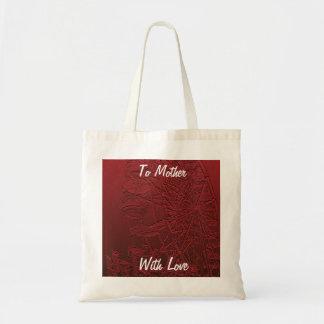 Leinwand-Tasche der Mutter Tages, rotes Riesenrad Budget Stoffbeutel