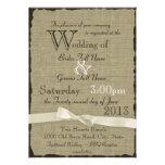 Leinwand und Bogen-rustikale Hochzeit Personalisierte Ankündigungskarten