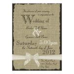 Leinwand und Bogen-rustikale Hochzeit Personalisierte Ankündigung