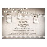 Leinwand- und Maurerglas-Brautpartyeinladungen Individuelle Einladungen