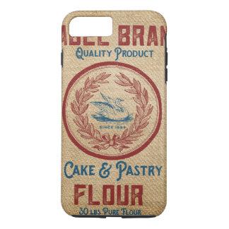 Leinwand-Vintager Kuchen-Gebäck-Mehl-Sack iPhone 7 Plus Hülle