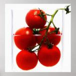 Leinwandbild Tomaten im Glas Abstrakt Stillleben Poster