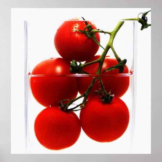 leinwandbild tomaten im glas abstrakt stillleben poster zazzle. Black Bedroom Furniture Sets. Home Design Ideas