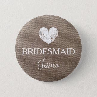 Leinwandbrautjungfernknopf für schicke Hochzeit Runder Button 5,7 Cm