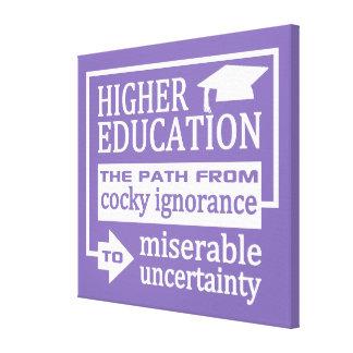 Leinwanddruck des höheren Bildungs-Spaßes