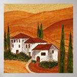 Leinwanddruck Leinwand  Canvas Print  Toscana Posterdrucke