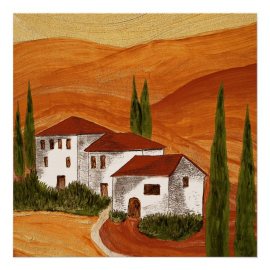 leinwanddruck leinwand canvas print toscana poster zazzle. Black Bedroom Furniture Sets. Home Design Ideas