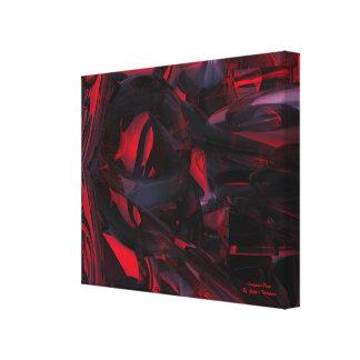 Leinwanddruck-Wandkunst der Sanguine Rose Leinwanddruck