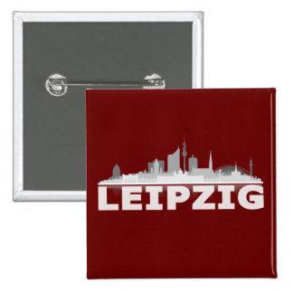 Leipzig City Skyline - Button / Anstecker / Pin