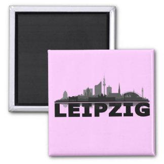 Leipzig City Skyline - Kühlschrankmagnet / Magnet