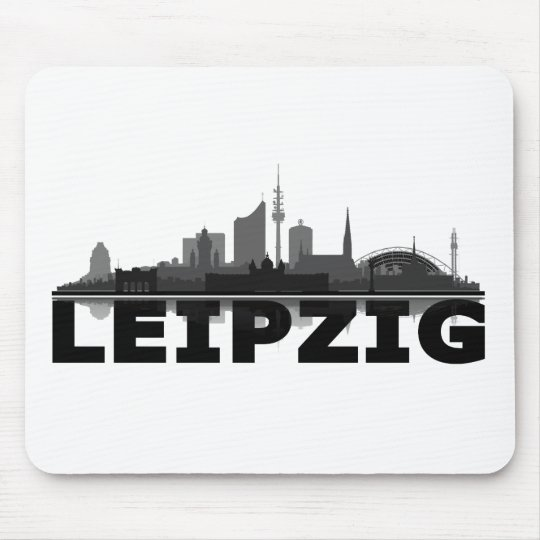 Leipzig City Skyline Mousepad