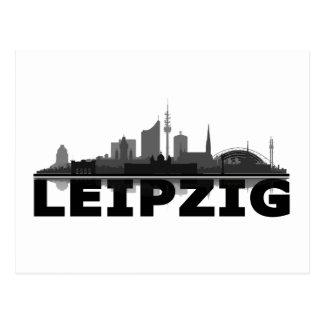 Leipzig City Skyline - Postkarte