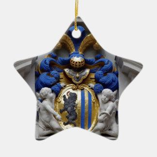 Leipziger Wappen Sachsen Goethe Naschmarkt Keramik Stern-Ornament