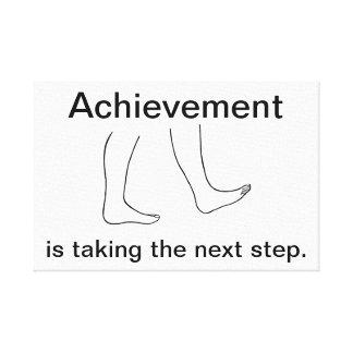 Leistung nimmt den folgender Schritt Leinwanddruck